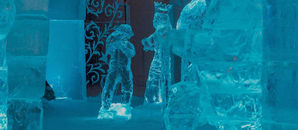 Un hotel de nieve y hielo en Noruega.